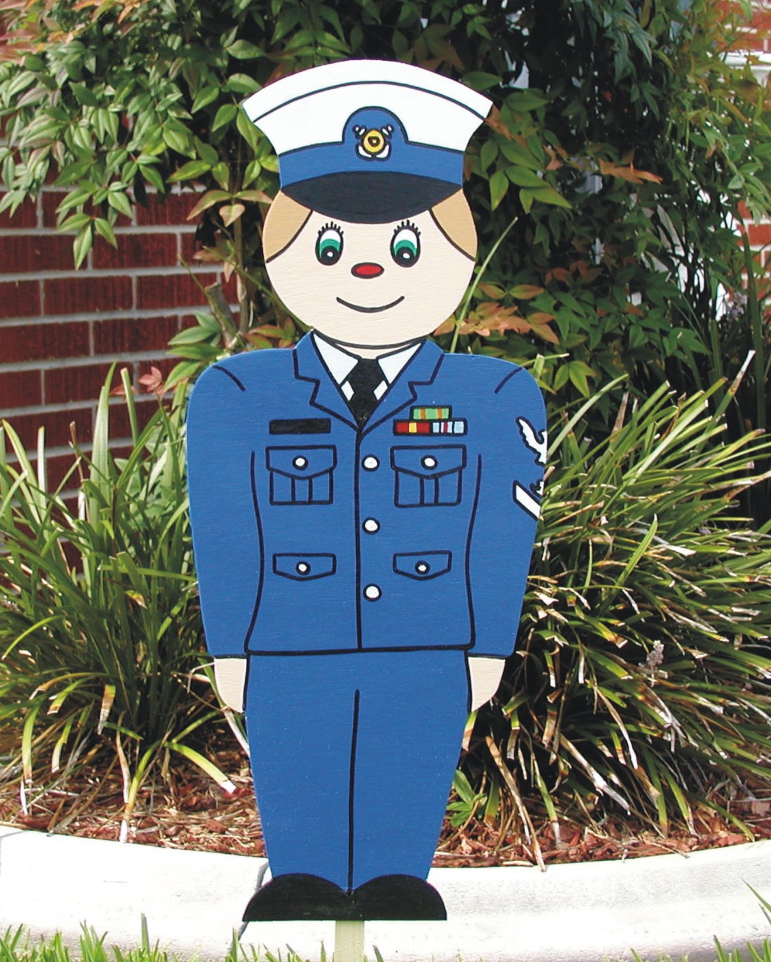 Little Coast Guard Man Lawn Sign