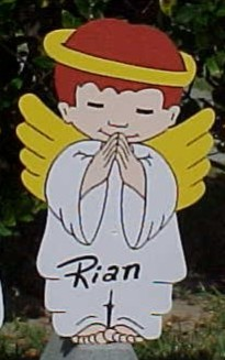 Angel Boy Praying Lawn Sign