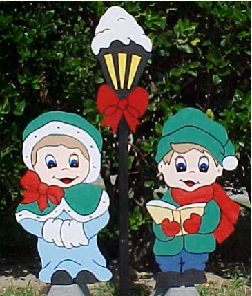 Caroler Lawn Sign Set