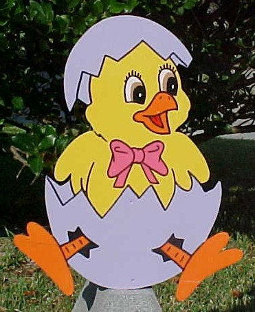 Chick In Egg Lawn Sign