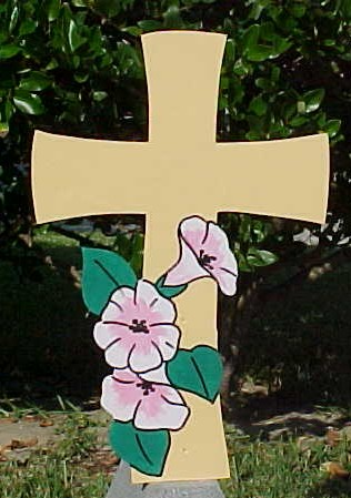 Easter Cross Lawn Sign