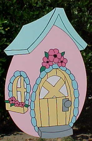 Egg House Lawn Sign