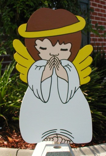 Angel Girl Praying Lawn Sign