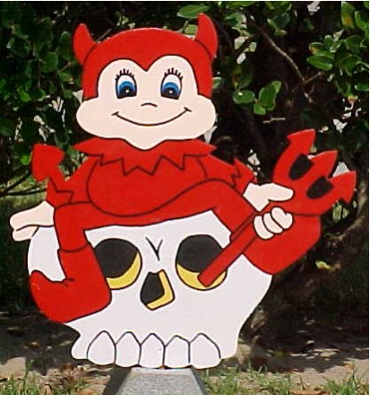Little Devil Lawn Sign