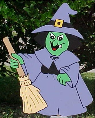 Witch Lawn Sign