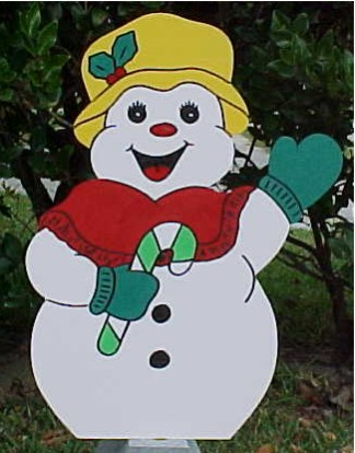 Mrs. Frosty Lawn Sign