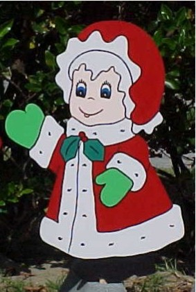 Mrs. Claus Lawn Sign