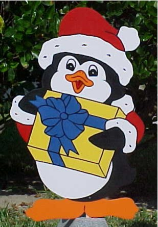 Penguin Lawn Sign