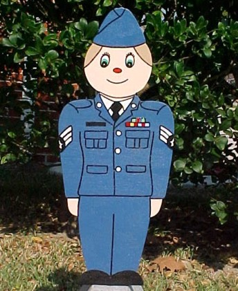 Little Air force Man Lawn Sign