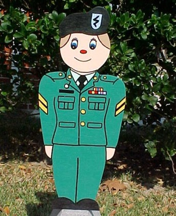 Little Army Soldier Lawn Sign