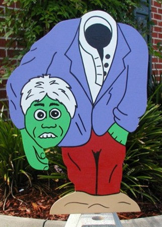 Headless Man Lawn Sign